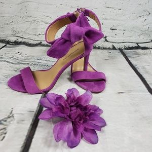 Banana Republic Jadmine Suede Bow Ankle Strap 7